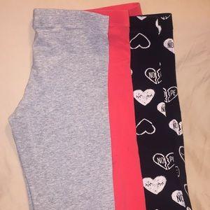 Lot of 3 girls leggings sz 10-11